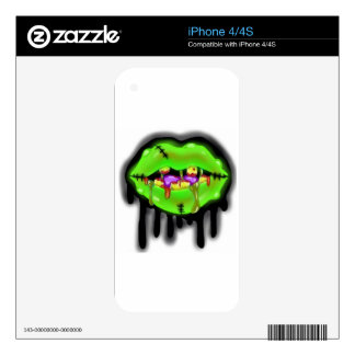 Dirty Mouth Zombie Skin iPhone 4S Decal