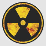 Dirty Nuclear Warning Sign Sticker