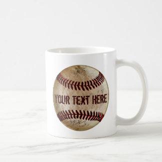 Dirty Old Baseball Mug with YOUR TEXT