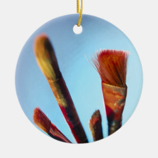 Dirty Old Paintbrushes Ceramic Ornament