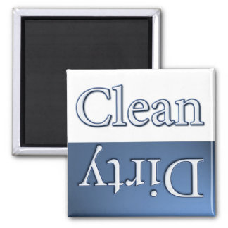 Dirty or Clean Dish Washer 2 Inch Square Magnet