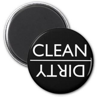 Dirty or Clean Dishwasher Magnet (black)