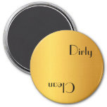 Dirty or clean dishwasher refrigerator magnets