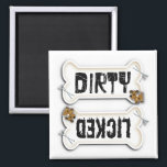 """Dirty or licked dishwasher magnet for dog lovers<br><div class=""""desc"""">Dirty or licked - this is  the dog version of dirty or clean dishwasher magnet. For the pet lover</div>"""