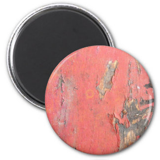 Dirty Peeling Red Paint on Barn Wood 2 Inch Round Magnet