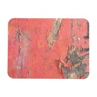 Dirty Peeling Red Paint on Barn Wood Rectangular Photo Magnet
