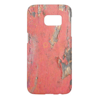 Dirty Peeling Red Paint on Barn Wood Samsung Galaxy S7 Case
