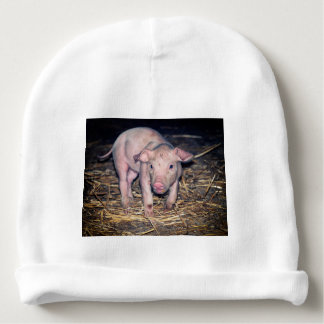 Dirty piglet baby beanie