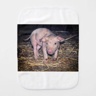 Dirty piglet burp cloth