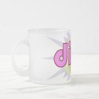 Dirty Pink Splash Frosted Glass Coffee Mug
