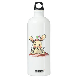 Dirty Playful Bunny Aluminum Water Bottle