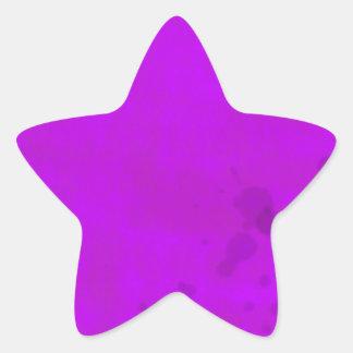 Dirty Purple Water Stains Star Sticker