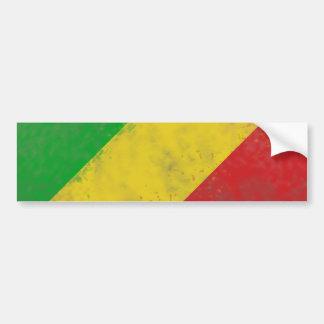 Dirty Rasta Colored Bars Car Bumper Sticker