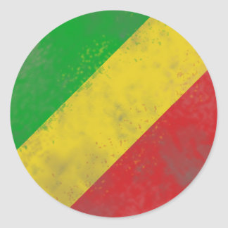 Dirty Rasta Colored Bars Classic Round Sticker