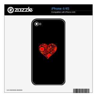 dirty red heart iPhone 4 decals
