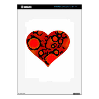 dirty red heart decal for iPad 3