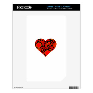 dirty red heart decal for the NOOK color