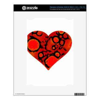 dirty red heart skin for the NOOK