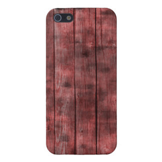 Dirty Red Wooden Fence iPhone SE/5/5s Case