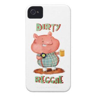 Dirty Reggae Pig iPhone 4 Case-Mate Cases