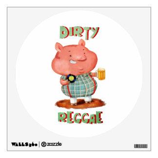 Dirty Reggae Pig Wall Decals