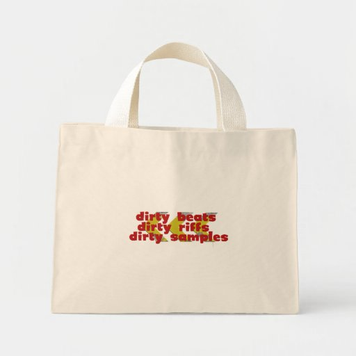 Dirty Riffs, Dirty Beats, Dirty Samples Canvas Bags