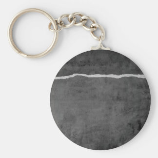 Dirty ripped paper keychain