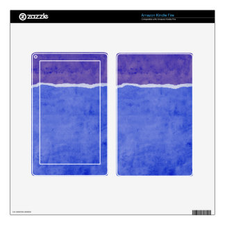Dirty ripped paper kindle fire skin