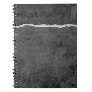 Dirty ripped paper notebook