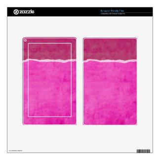 Dirty ripped pink paper kindle fire decal