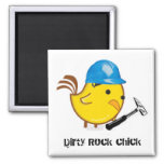 Dirty Rock chick Square Magnet