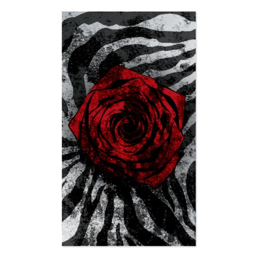 Dirty Rose- Zebra 01 Business Card