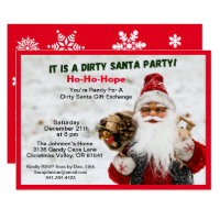 Dirty Santa Gift Exchange and Snowflakes, ZPR Invitation
