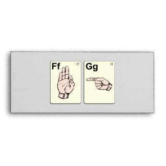 Dirty Sign Language Flash Cards Envelopes