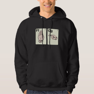 Dirty Sign Language Flash Cards Hoodie