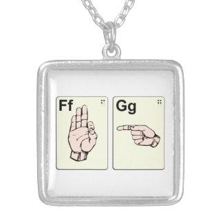 Dirty Sign Language Flash Cards Pendants