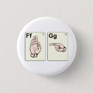 Dirty Sign Language Flash Cards Pinback Button