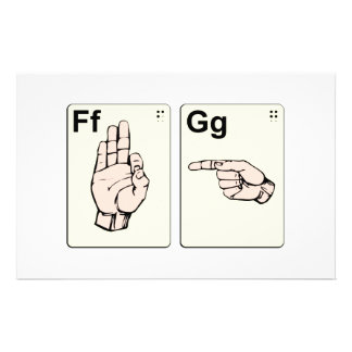 Dirty Sign Language Flash Cards Stationery