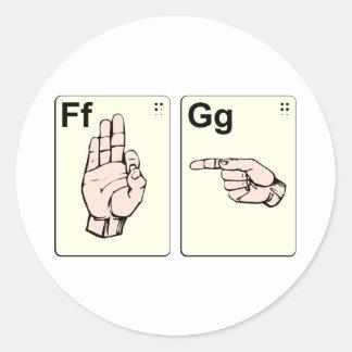 Dirty Sign Language Flash Cards Sticker