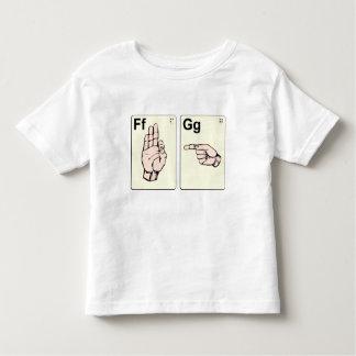 Dirty Sign Language Flash Cards Toddler T-shirt