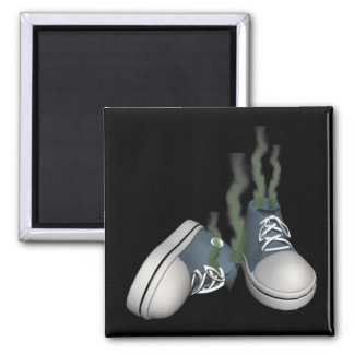 Dirty Sneakers 2 Inch Square Magnet