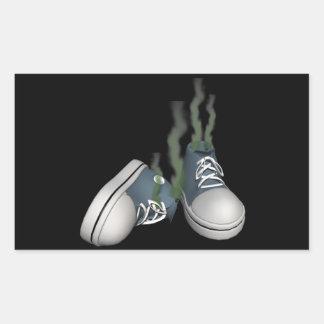 Dirty Sneakers Rectangular Sticker