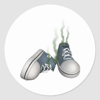 Dirty Sneakers Classic Round Sticker