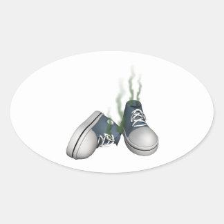Dirty Sneakers Oval Sticker