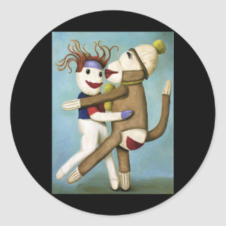Dirty Socks Dancing The Tango Classic Round Sticker