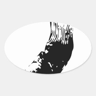 Dirty Socks Oval Sticker