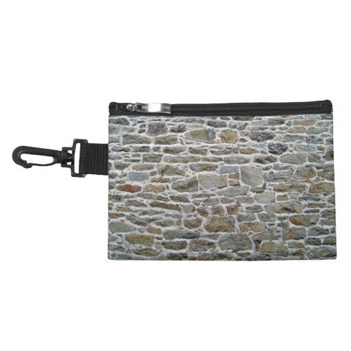 Dirty Stone Wall Background Accessories Bag