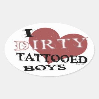 Dirty Tattooed Boys Stickers
