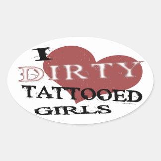 Dirty Tattooed Girls Stickers