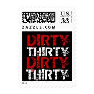Dirty Thirty (30) 30th Birthday stamp